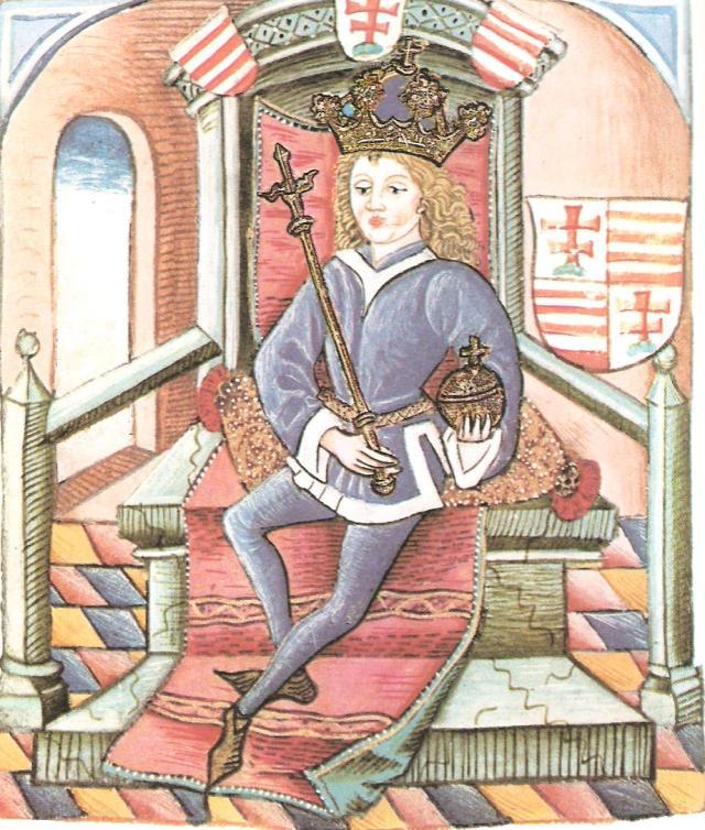 6. ábra: Nagy Lajos képe a Thuróczy Krónikában
