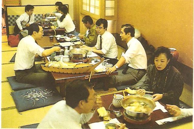 Földön ülős japán vendéglő