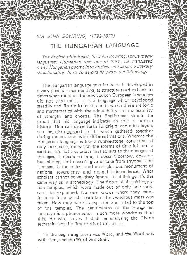 """Poetry of Magyar's"" előszava"