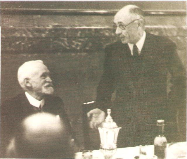 Teleki Pál és Cholnoky Jenő a Földrajzi Társaság vacsoráján2