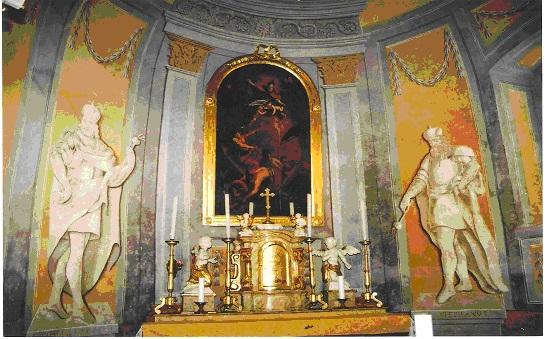Rábaszentmiklósi katolikus templom oltárképe(Kálmán Flóra fényképe)