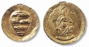 Az Aranybulla másolata és pecsétje (Magyar Nemzeti Levéltár)